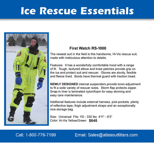 First Watch RS-1000 ice rescue suit