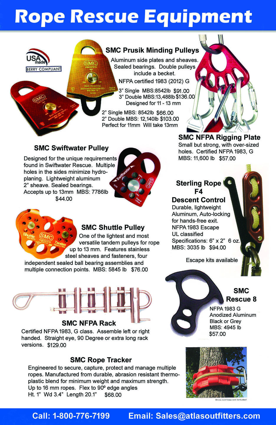 Rope rescue hardware