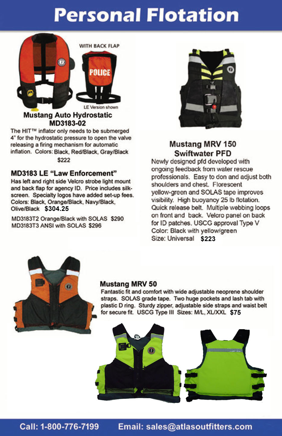 Mustang rescue pfds