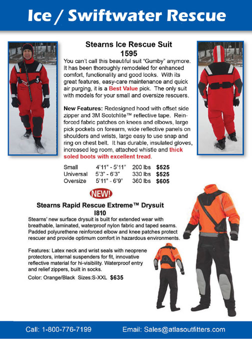 Stearns Ice Rescue Suits and Swiftwater rescue suits